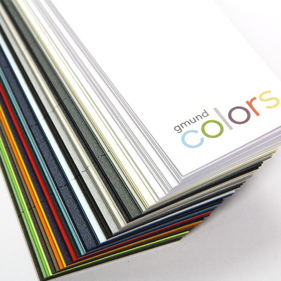 Order convenient, handheld color system swatch book through to see and compare 48 colors and 4 finishes.