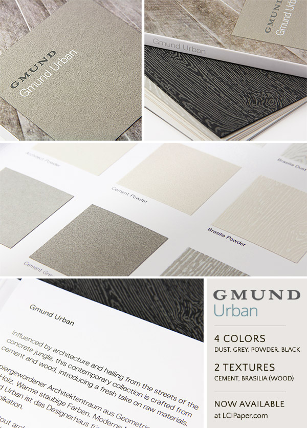 Gmund Urban collection collage - Urban now available at LCIPaper.com
