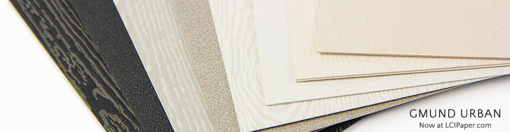 Gmund Urban collection now available at LCI Paper in cement and brasilia textures