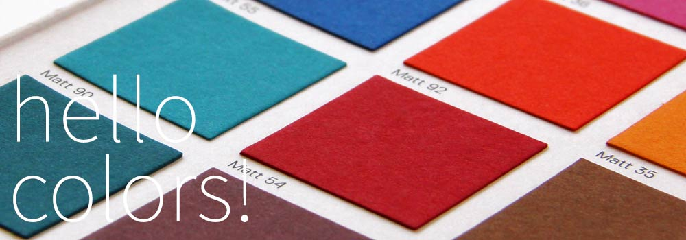 Gmund Color System swatch book. 48 color, 4 finish luxury paper system available at LCI Paper