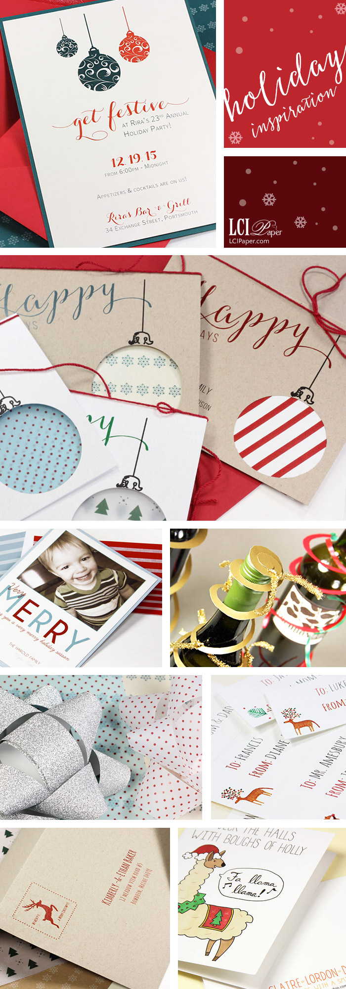 Holiday card and paper craft favorites from LCIPaper.com blog. Holiday creative inspiration