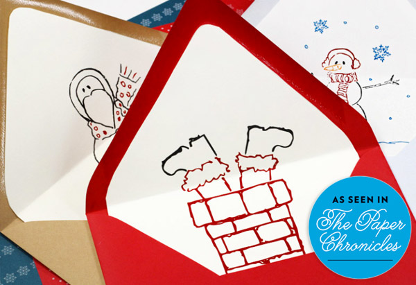 Free printable holiday cards and liners by LCI Paper featured on The Paper Chronicles