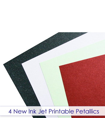 4 new ink jet printable Petallics colors