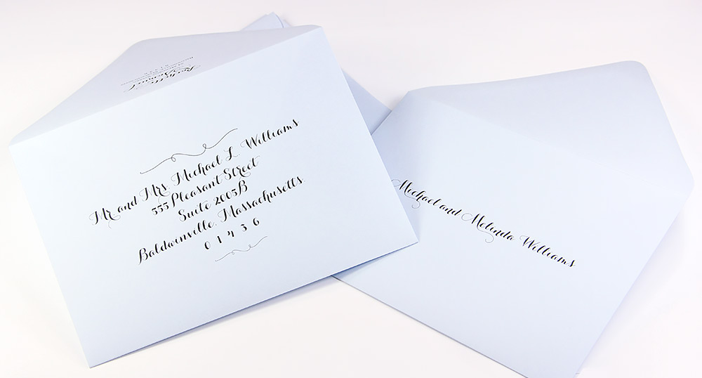 Euro flap double wedding envelope sets now offered at LCIPaper.com. Envelopes made with thick, heavy paper and are offered blank or printed.