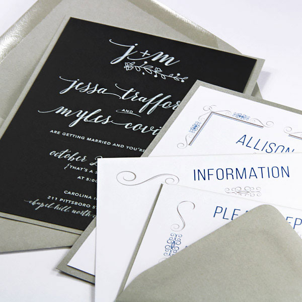 Invitation cards printed using LCI Paper invitation printing service
