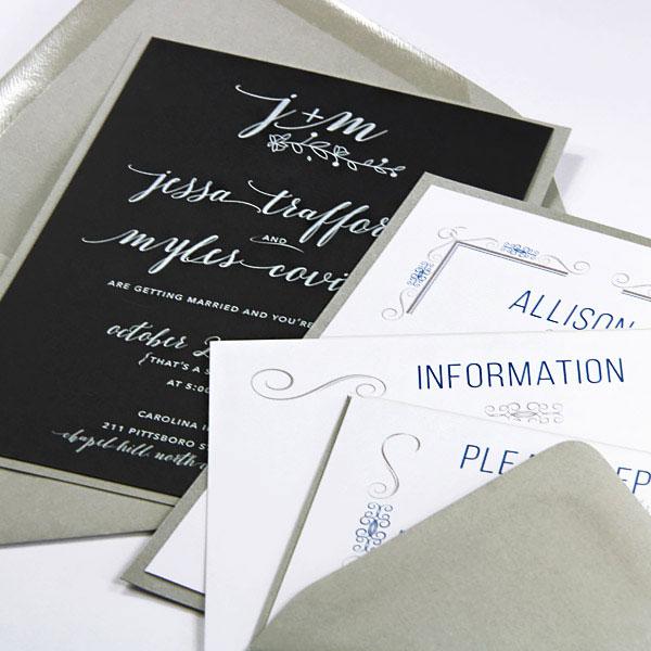 Invitation cards printed using LCI Paper invitation printing service
