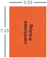 Landscape printing envelope graphic