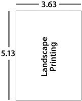 landscape printing RSVP envelope size key