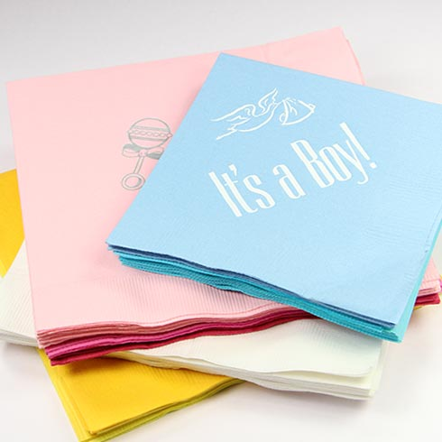 LCI Paper Personalized Baby Napkins.