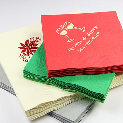 LCI Paper custom christmas and holiday napkins.