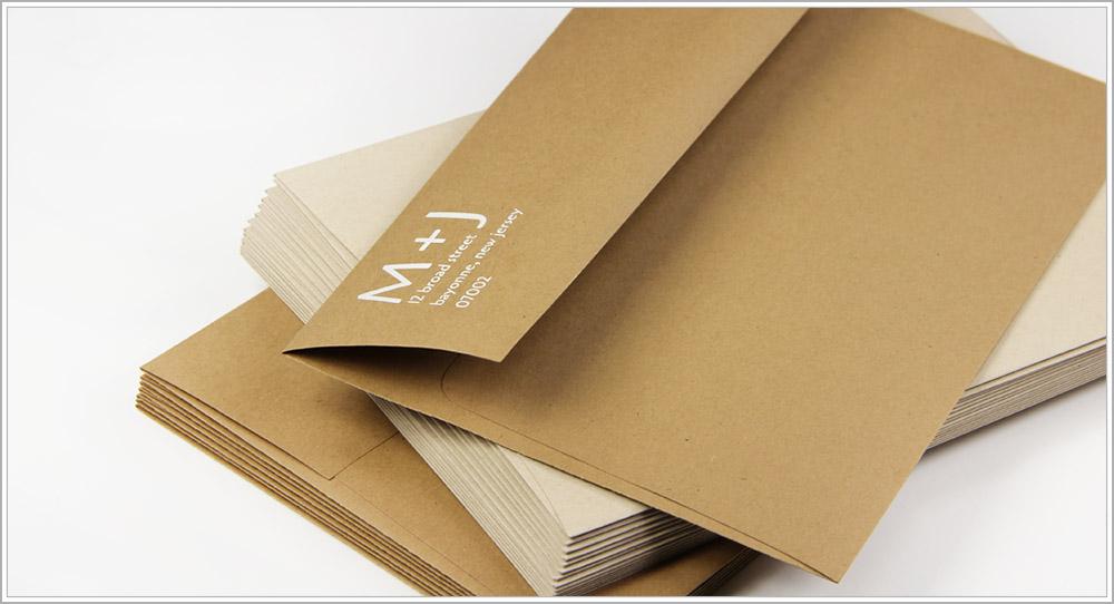 White Printing On Kraft Envelopes