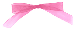 self adhesive light pink pre tied chiffon bow