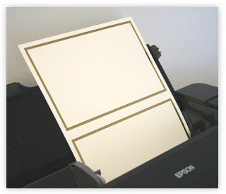Loading invitation paper printer short edge first