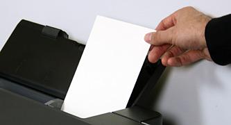 loading paper into printer portrait