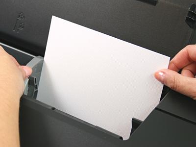 inkjet printer loading paper right aligned