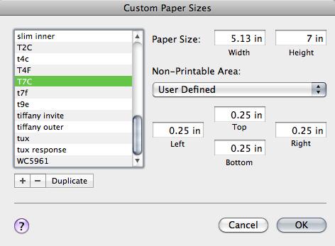 Mac print driver custom size document