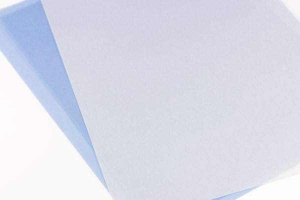 Lightweight and heavyweight vellum unscored. Scoring machine unable to detect translucent vellum paper