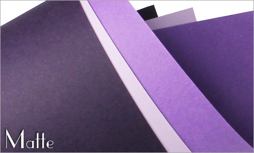 purple papers with matte finish