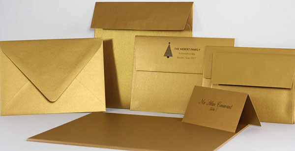 Gold Metallic Paper, Cards, and Envelopes