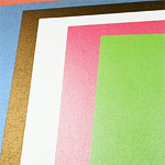 standard pearlized paper, or metallic specialty paper