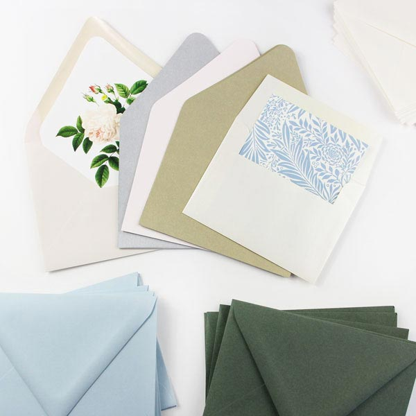 Mix & match envelope liner paper with your favorite envelopes
