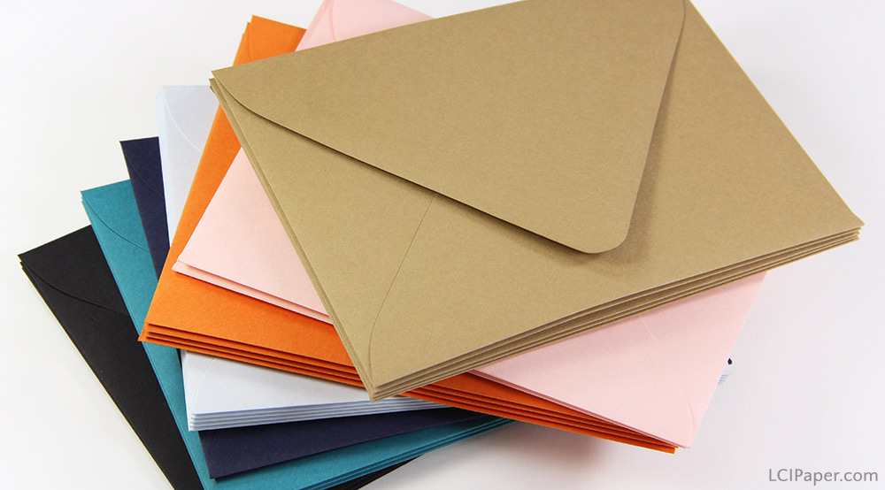 More colorful euro flap invitation envelopes available at LCIPaper.com. Order blank or printed, pair with matching papers