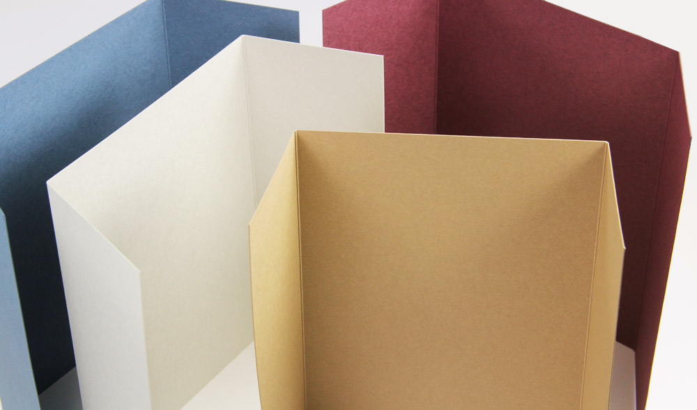 Colorful matte finish 5x7 gatefolds for invitations from LCIPaper.com