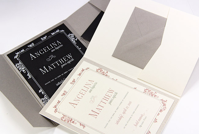 New top color matte finish invitation pockets at LCIPaper.com in two 5x7 formats