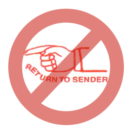 crossed out return to sender stamp