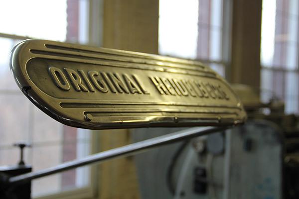 Original Heidelberg windmill press