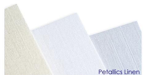 Aspire Petallics linen finish paper