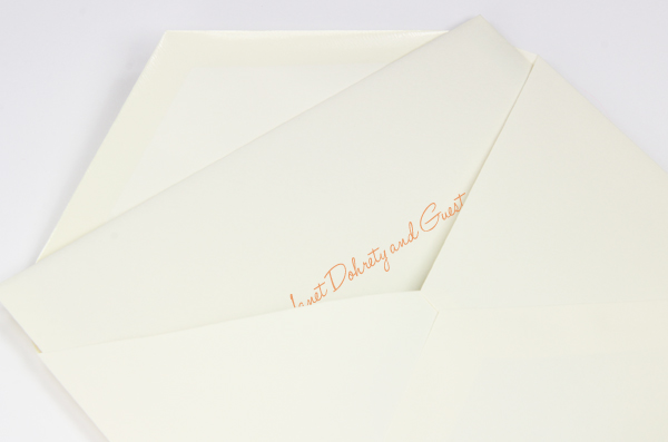 Informally addressed inner envelope inside of outer envelope