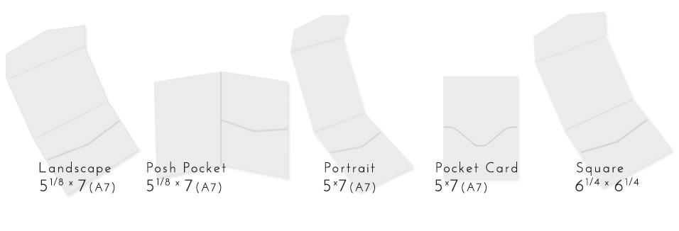 invitation pockets styles at LCI Paper