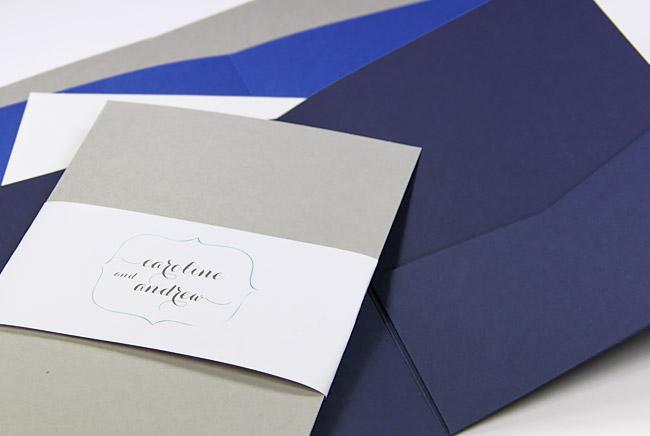 Colorful matte finish invitation pockets in dozens of colors at LCIPaper.com
