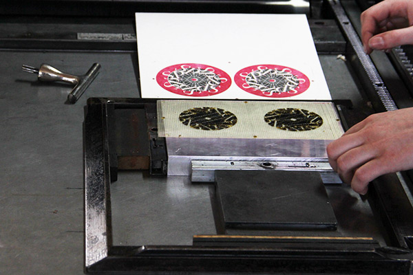Polymer plate used to make letterpress coasters