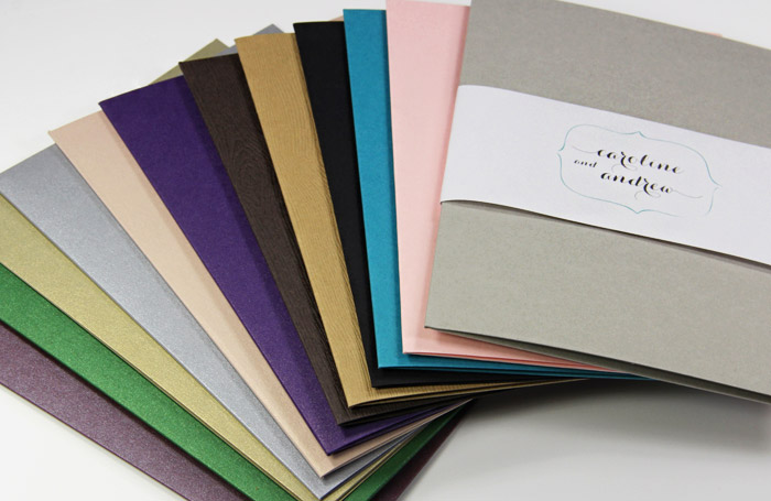 5 x 7 A7 bifold pocket folders from LCI Paper