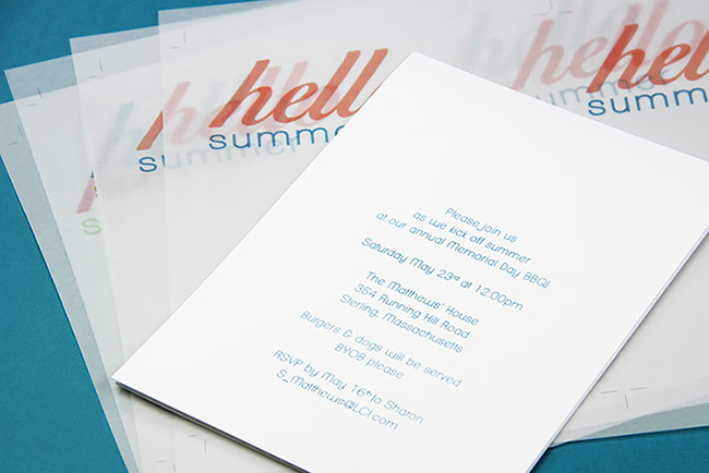 Print vellum and cards using free template