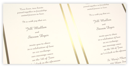 Printed 2Up Invitations A9