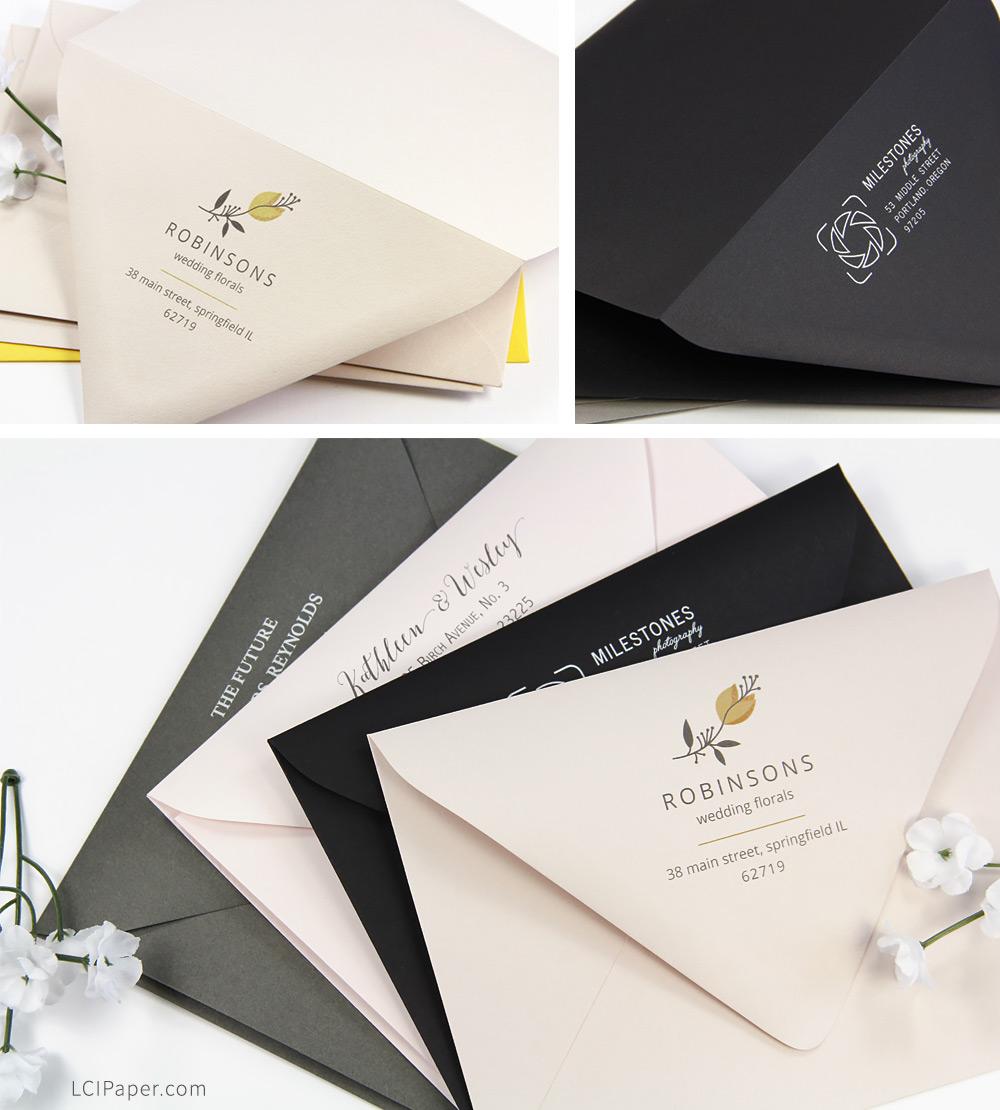 Order custom printed euro flap envelopes at LCI Paper