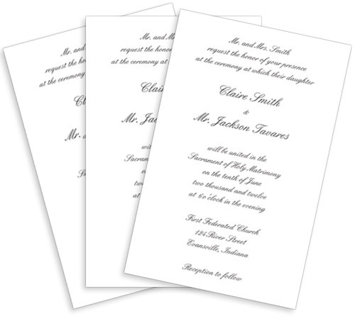 printed invitation card