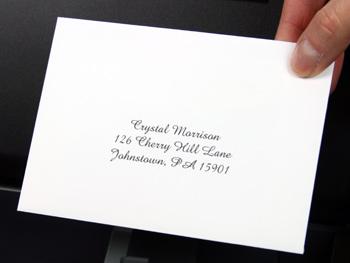 Printed RSVP Response Card Envelope
