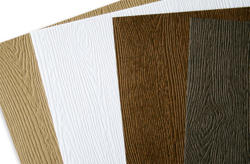 close up of savanna wood grain card stock