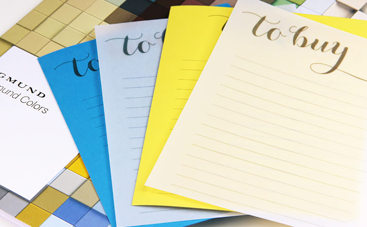 to do and shopping lists printed