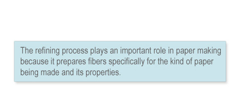 Quote: refining process plays an important role in paper making