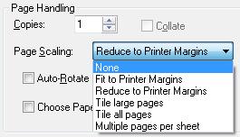 Adobe Reader scaling off