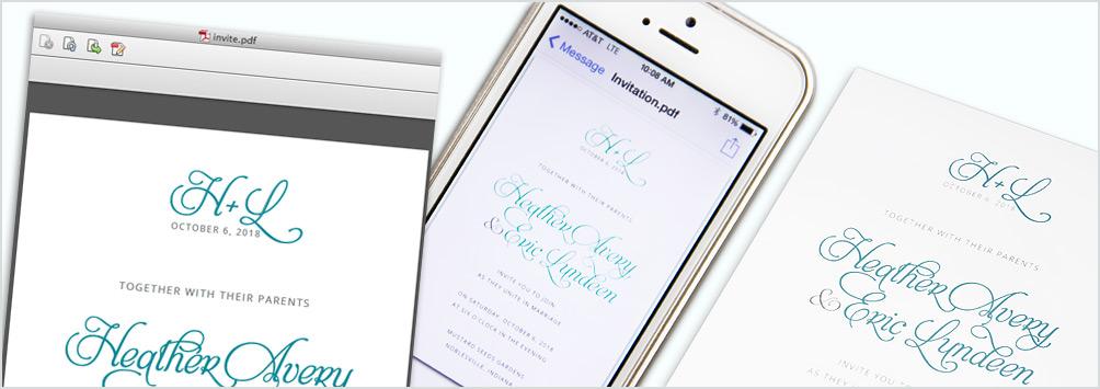 屏幕上和打印中的邀請顏色