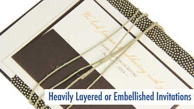 seal envelopes of embellished invitations well