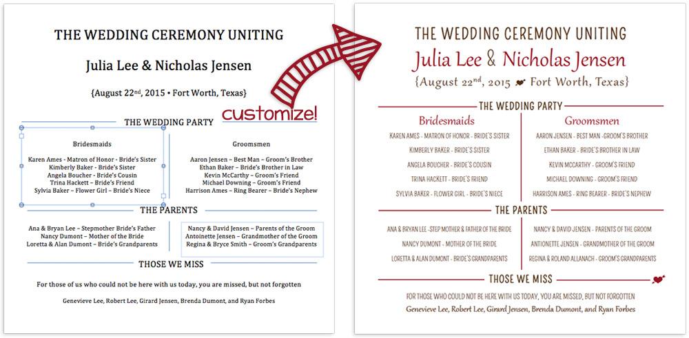 Wedding Program Template Free Word from static.lcipaper.com
