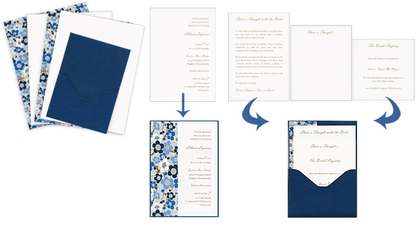 Overview graphic of how stacked pocket card design will come together