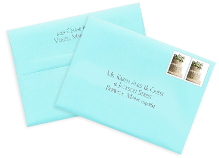 stamped pocket envelopes
